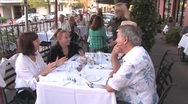 Stock Video Footage of People Dining Out