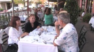 Stock Video Footage of Restaurant Dining Out
