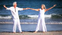 Healthy Seniors Enjoying Life Stock Footage