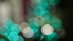 Teal and green lights Stock Footage