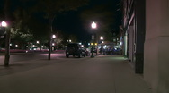 Stock Video Footage of Sidewalk cafe at night in suburban downtown