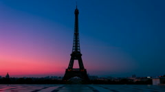 Paris Wakes Up Stock Footage