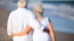 Healthy Couple Happy in Retirement Stock Footage