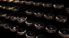 Retro Typewriter Keys Loop HD Stock Footage