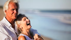 Healthy & Contented Couple in Retirement Stock Footage