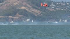 Helicopter Fleetweek, San Francisco Stock Footage