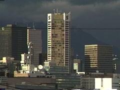 Archival 1990 Vancouver skyline Stock Footage