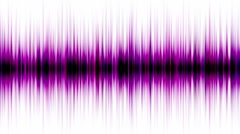 Purple pulse ray band frequency spectrum FM heart rate EEG ECG weeds noise. Stock Footage