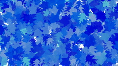 Group blue maple leafs flying dream vision idea creativity. Stock Footage