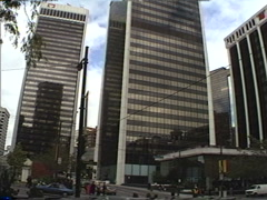 Archival, 1990 Vancouver Bentall centre montage Stock Footage