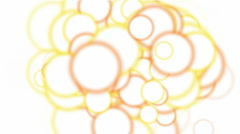 Circle balls vision creativity bubble foam background. Stock Footage