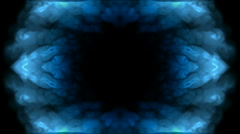 Abstract blue flower pattern oriental lotus texture background. Stock Footage
