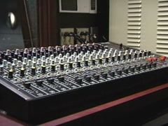 Vintage 1980s soundboard Stock Footage