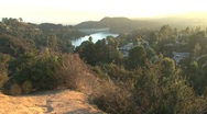 Stock Video Footage of Hollywood Hills sunset