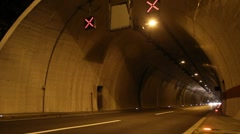 Driving through tunnel - stock footage