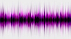 Purple pulse ray band frequency spectrum FM heart rate EEG ECG life weeds noise. Stock Footage
