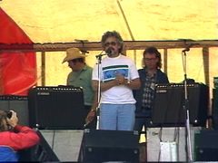 Politics and protest, 1989 Oldman Dam protest David Suzuki speech 3 Stock Footage