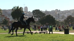 Police and horse San Francisco Stock Footage