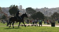 Stock Video Footage of Police and horse San Francisco