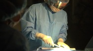 Stock Video Footage of Surgical Team Performing Heart Surgery