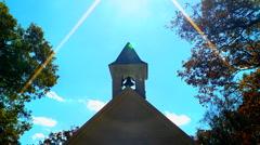 Historic church steeple 02 Stock Footage