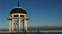 Winter time lapse with Rotunda Stock Footage