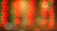 Stock Video Footage of Out of focus garland lights nice flikering