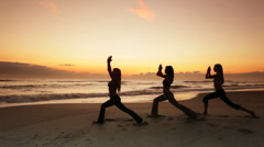 Healthy Lifestyle Yoga Exercises Stock Footage