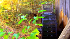 Historic grist mill with water wheel 04 Stock Footage