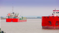 Oil tanker. Russia Stock Footage