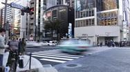 Pedestrian crossing, Ginza, Tokyo, Japan Stock Footage
