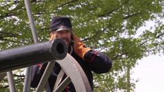 American Civil War Cannon Stock Footage