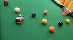 Playing pool game Stock Footage