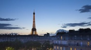 Stock Video Footage of Eiffel Tower, Paris, France