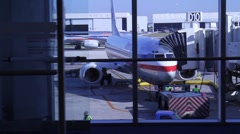 Plane parked2 Stock Footage