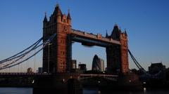 Tower Bridge dawn timelapse Stock Footage