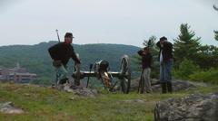 American Civil War Cannon Firing5 Stock Footage