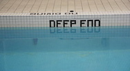 Deep end of the pool. Stock Footage