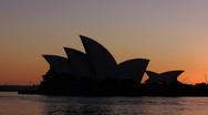 Stock Video Footage of Sydney Opera House dawn timelapse