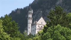Neuschwanstein Castle (medium shot) Stock Footage