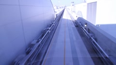 Airport train perspective Stock Footage