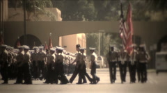 Military Procession 4722B HD Stock Footage