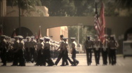 Stock Video Footage of Military Procession 4722B HD