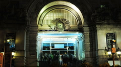 Waterloo station entrance timelapse Stock Footage
