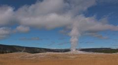 Yellowstone Old Faithful Geyser Erupts 049 - stock footage