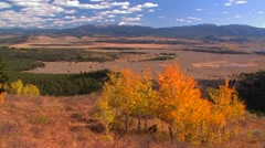 Stock Video Footage of Autumn Pan of Valley