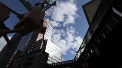 NYC HIGHLINE LOOK UP CLOUDS FAST MO Stock Footage