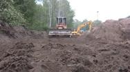 Bulldozer low angle Stock Footage
