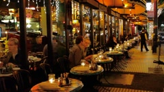 San Francisco Fine Dining Stock Footage