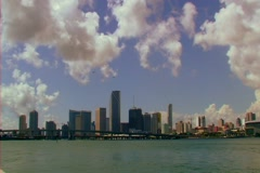 Stock Video Footage of Downtown Miami Skyline